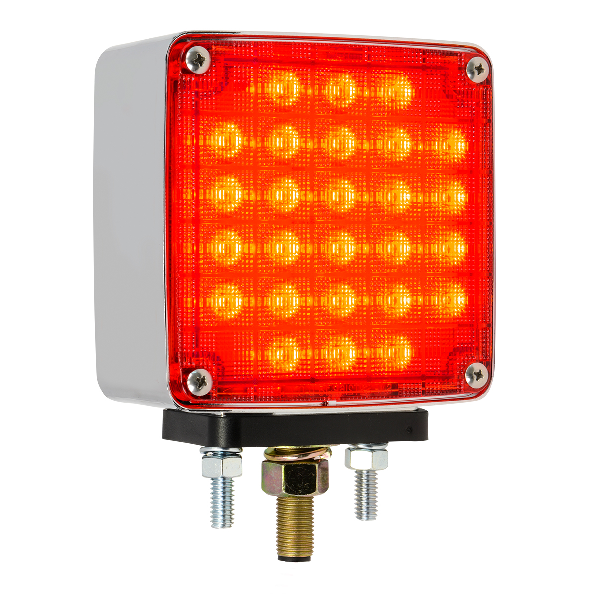 Square Double Face Smart Dynamic LED Pedestal Light in Color Lens