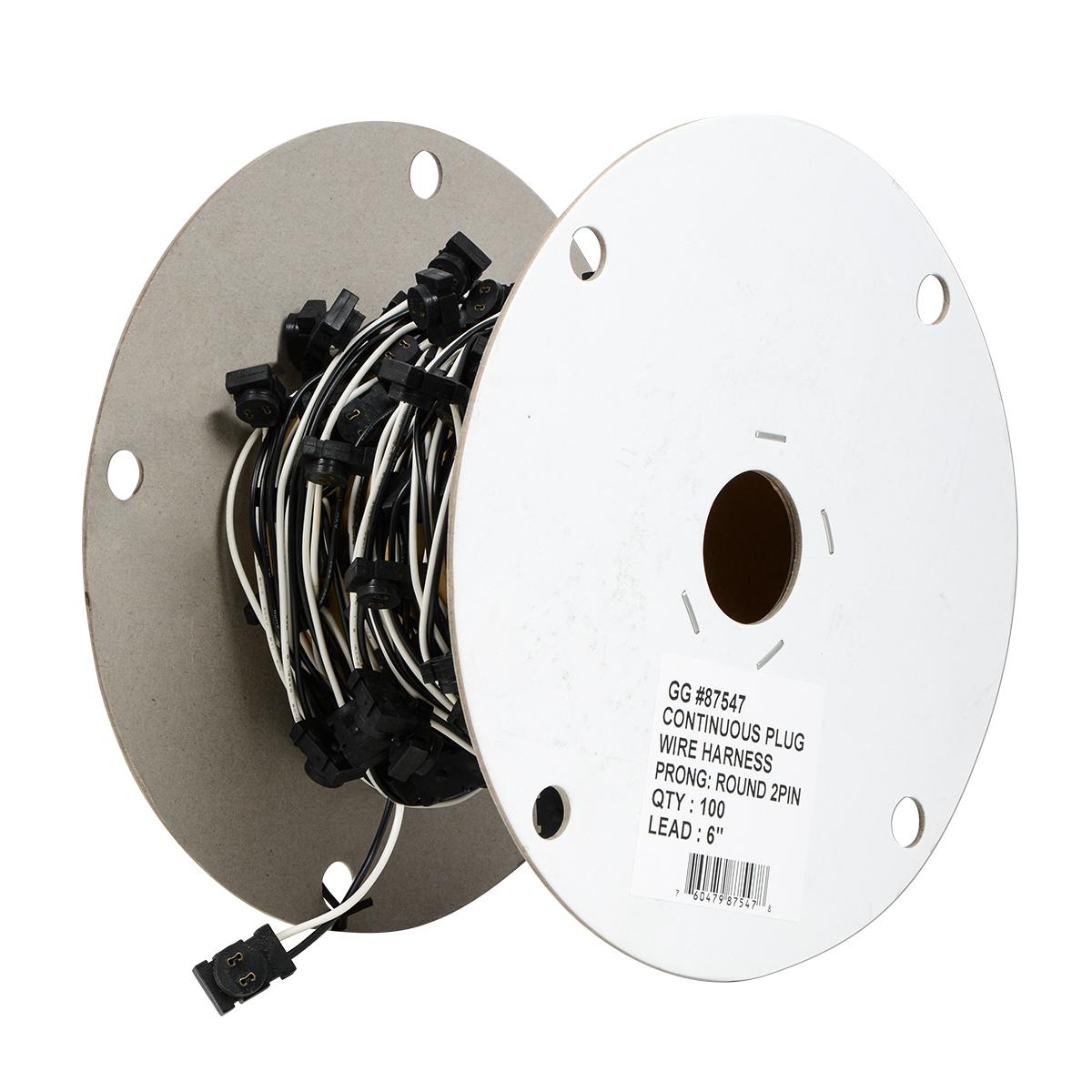 Round 2 Pin Female Plug Wire Harness