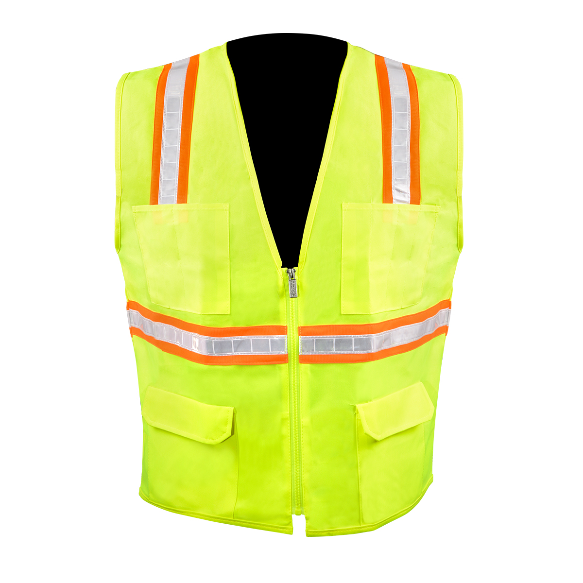 High Visibility Safety Vest with 6 Pockets