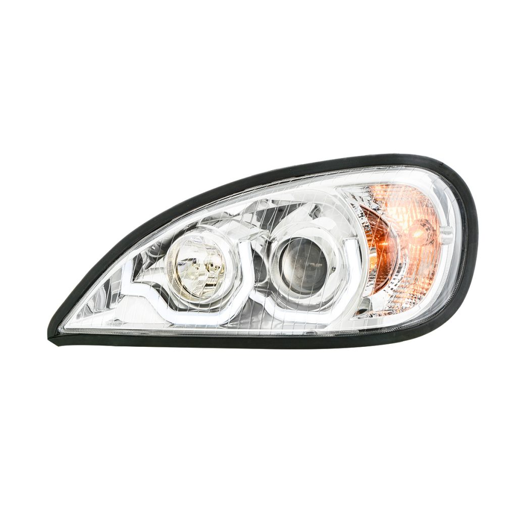 Freightliner Columbia Chrome Projector Headlight W White