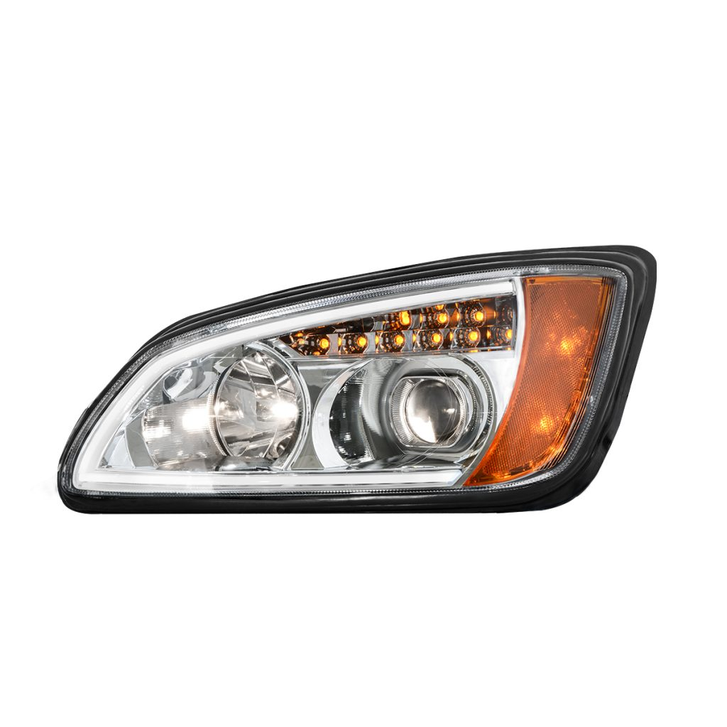 Kenworth T660 Chrome Projection Headlight W Led Turn