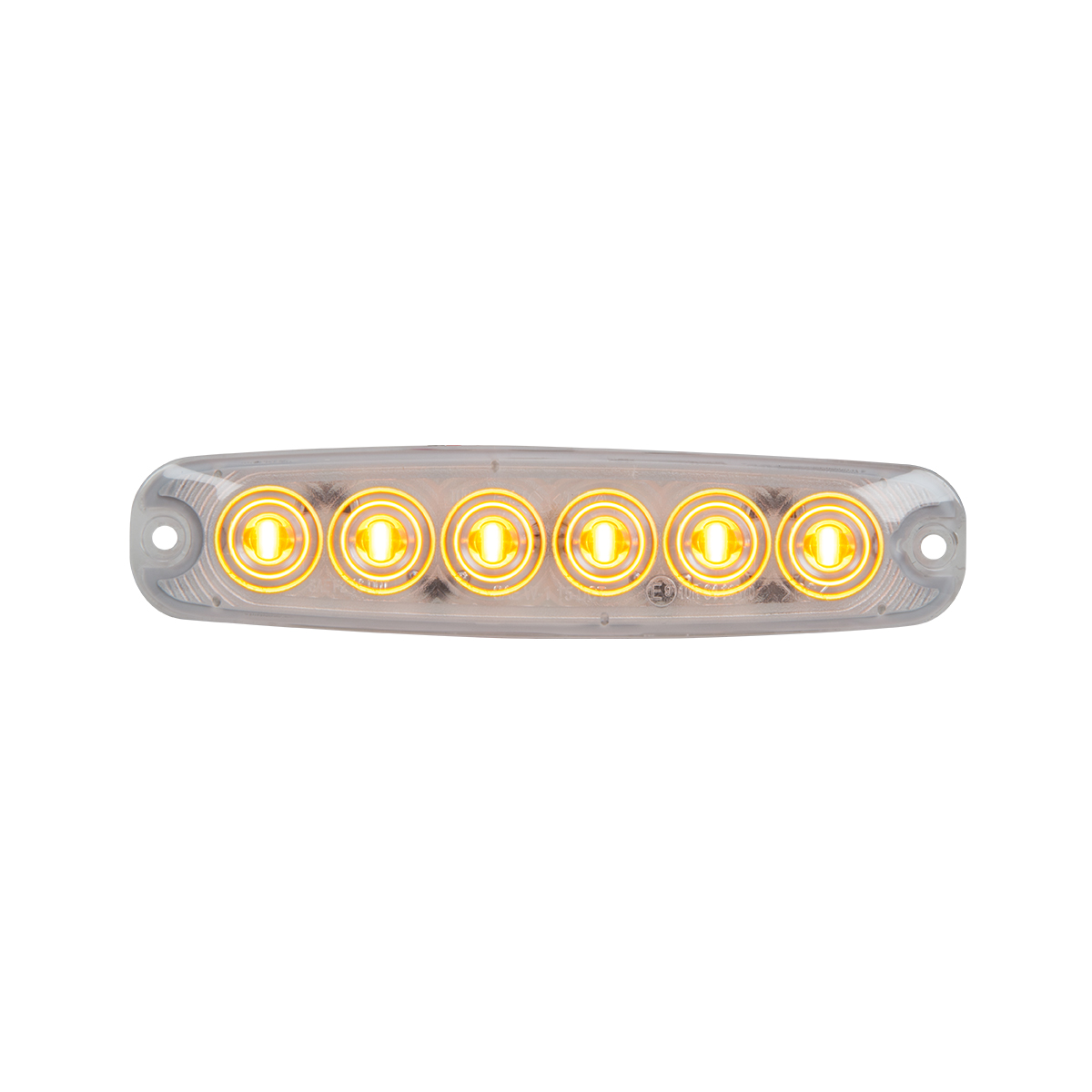 """5 ⅛"""" Ultra Thin LED Light - Amber/Clear"""