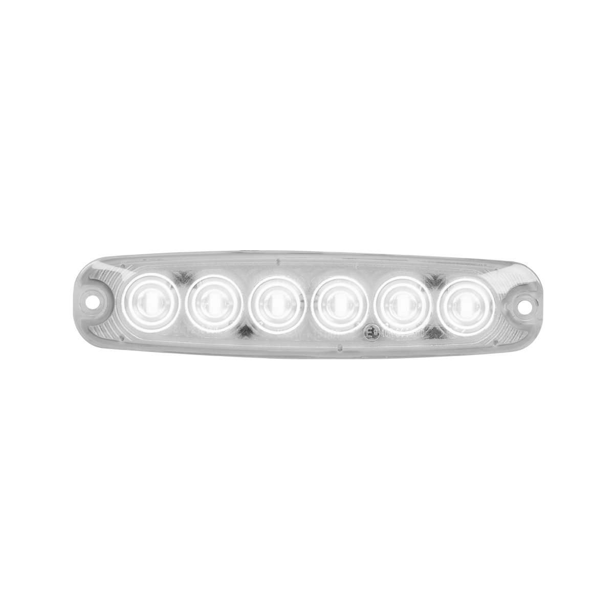 """5 ⅛"""" Ultra Thin LED Light - White/Clear"""