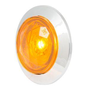 1-1/4″ Dia. Dual Function Diamond Lens LED Light with Chrome Plastic Bezel