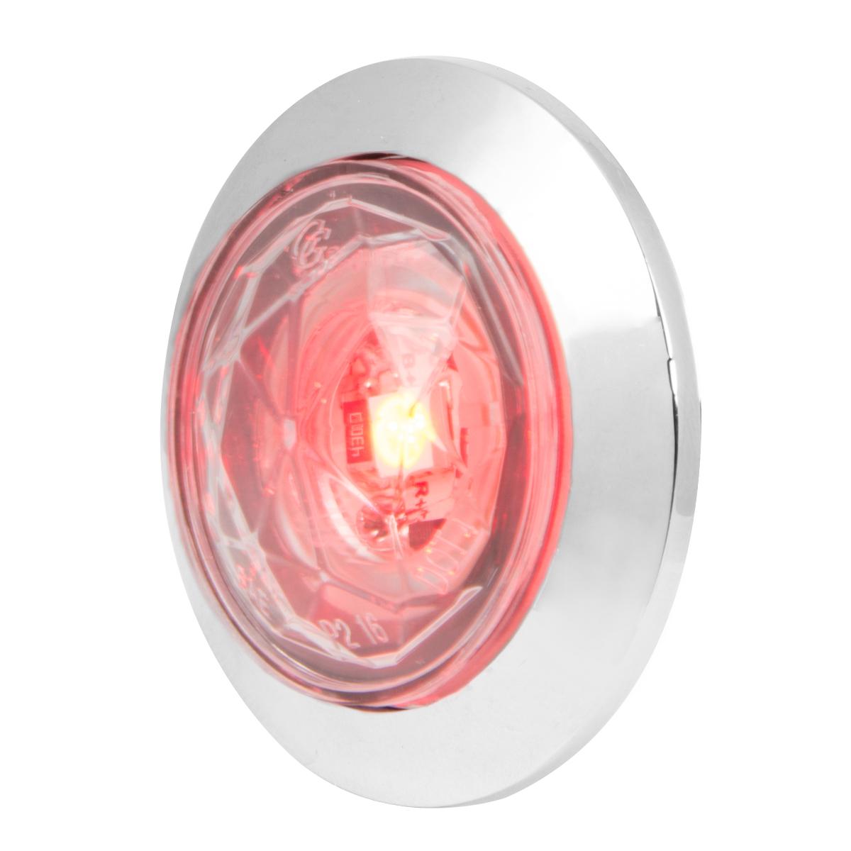 "1"" Dia. Dual Function Diamond Lens LED Light with Chrome Plastic Bezel"
